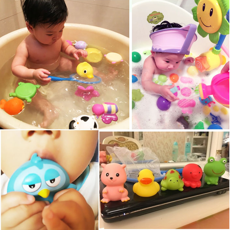 Big-size-4pcsset-Kawaii-baby-bath-toys-High-quality-Vinyl-Educational-Rattle-toy-for-0-4-years-Newborn-baby-Water-spray-toys-5