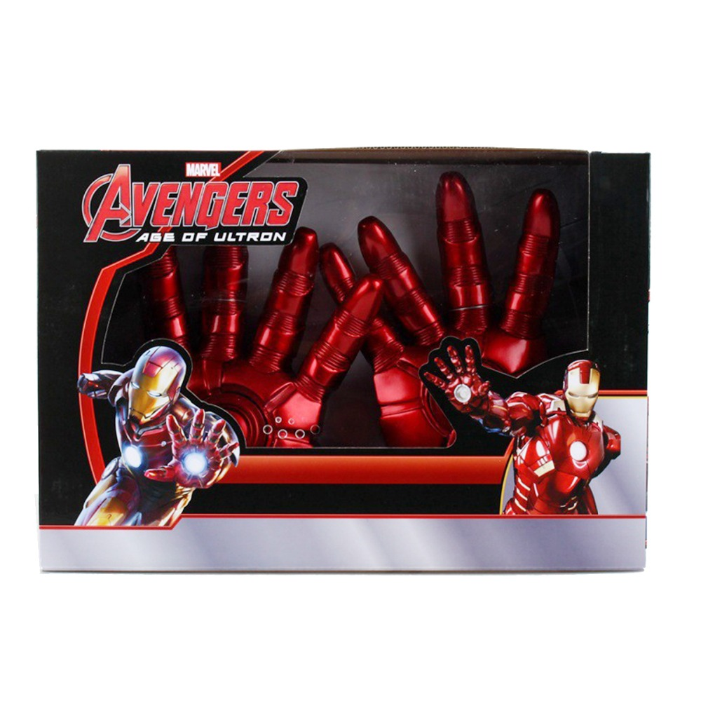 ФОТО The Avengers Iron Man Hand Gloves 3D LED Light Cosplay Action Figure Toy DC008034