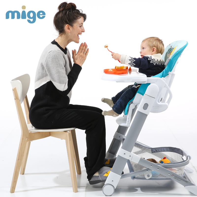Mige Baby Dining Chair Multifunctional Fold Portable Baby High Chair Booster Seat free shipping children s meal chair portable multifunctional baby dining chair for more than 6 month baby use