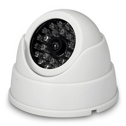 MOOL 2 x Dummy Fake Surveillance Security CCTV Dome Camera With LED Blinking Real imitation White mool indoor cctv fake dummy dome security camera with ir leds white