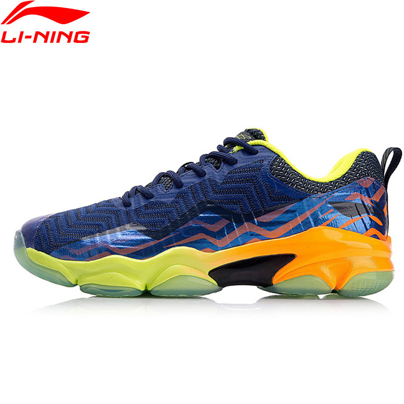 2018 New Li-Ning Professional Badminton Shoe for Men Ankle Support Wearable Sports Sneakers Anti-Slippery LiNing AYZN011 Z033OLA li ning professional badminton shoe for women cushion breathable anti slippery lining shock absorption athletic sneakers ayal024