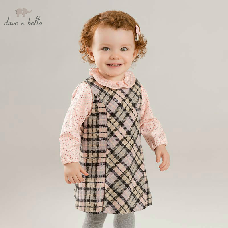 DB8681-2 dave bella baby Plaid Dress girls sleeveless autumn dresses kids girls dress children birthday party boutique dress DB8681-2 dave bella baby Plaid Dress girls sleeveless autumn dresses kids girls dress children birthday party boutique dress