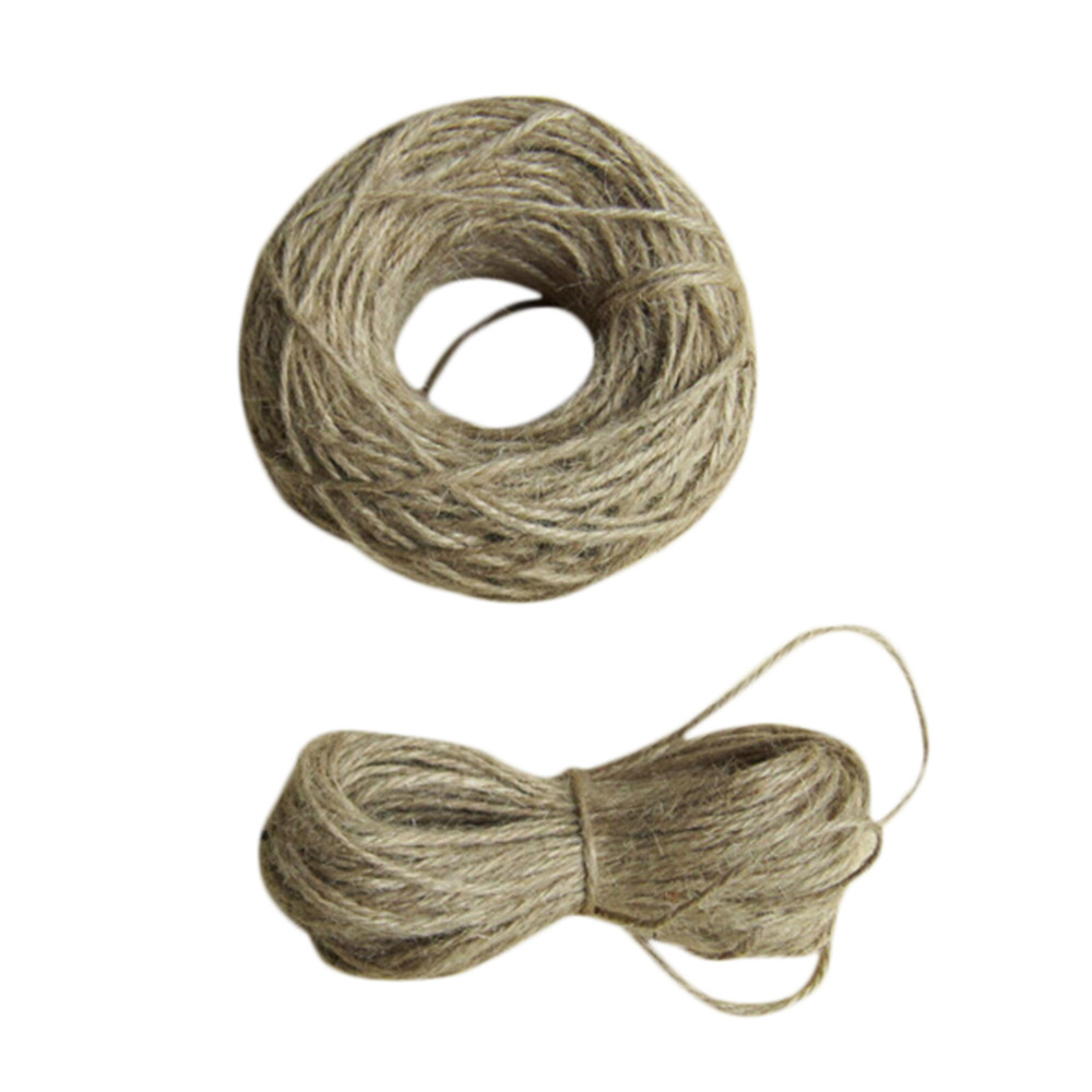 10m Pcs Diy Supplies Jute Twine String Vintage Rustic Wedding Home Decoration Natural Twine