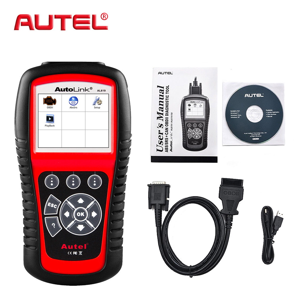 Autel AL619 Autolink Engine,ABS,SRS, Airbag Auto OBD2 Scanner Car Code Reader Automotive Diagnostic Tool Scanner Automotive