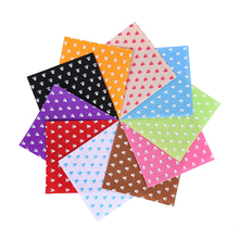 Small ankle Felt  Craft felt Polyester Fabric 100% Print 10PCS 1pack Combination Cloth Handmade Sewing Material