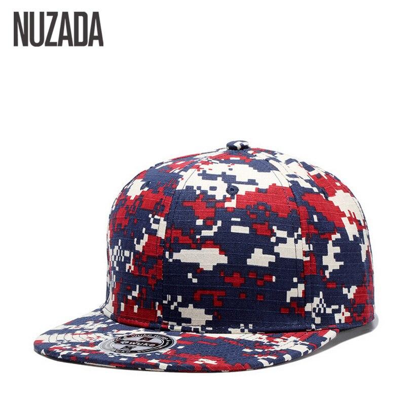 2217468313e Brand NUZADA Snapback 100% Quality Cotton Camouflage Baseball Caps Men Women  Fashion Hats Spring Summer