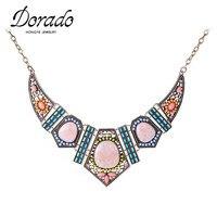 Latest Design Summer Style Popular Multi Color Resin Bead Rhinestone Choker Statement Necklace Pendant Top Quality