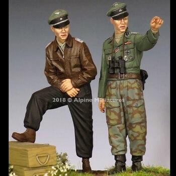 1/35 Смола рисунок WW2 офицер солдат (2 шт./лот) неокрашенный и в разобранном виде 332 г