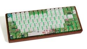 Image 5 - דובדבן פרופיל לצבוע תת Keycap סט עבה PBT פלסטיק לוטוס בריכת ירוק לבן כחול colorway עבור gh60 xd64 xd84 xd96 tada68 87 104