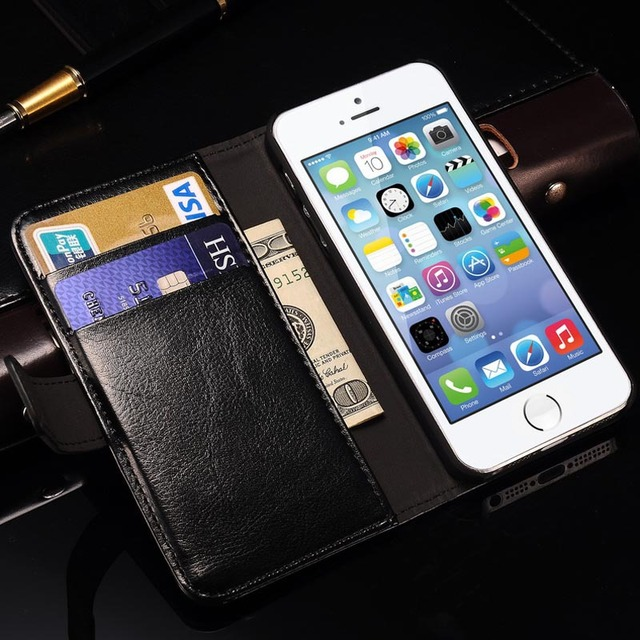 Wallet Leather Case for Apple iPhone 5S 5 5