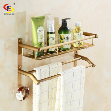 free shipping fashion antique towel shelf vintage folding towel rack bathroom shelf towel rack
