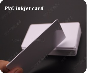 Image 4 - 100 glossy White Blank inkjet printable PVC Card Waterproof plastic ID Card business card no chip for Epson for Canon printer