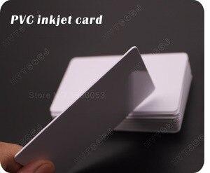 Image 4 - 100光沢ホワイトブランクインクジェット印刷可能なpvcカード防水プラスチックidカード名刺いいえチップエプソン用キヤノンプリンタ