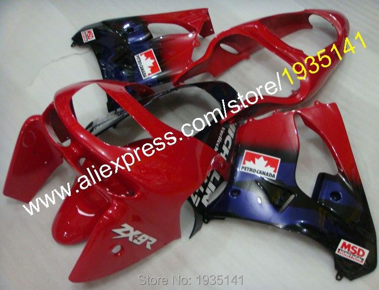 Offres spéciales, pour Kawasaki Compression plastique carénage Ninja ZX9R 1998-1999 ZX 9R 98-99 ZX-9R feuilles carrosserie travail moto carénage