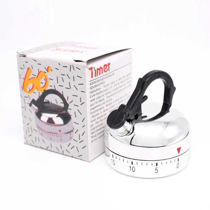 Mechanical Counter Kitchen Cooking Alarm Timer Teapot Design Clock Count Down G