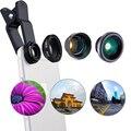 4-en-1 2X lente gran angular, de 180 Grados Lente de Ojo de Pez, Lente Gran Angular y Macro para xiaomi iPhone HTC teléfonos CL-85-2X