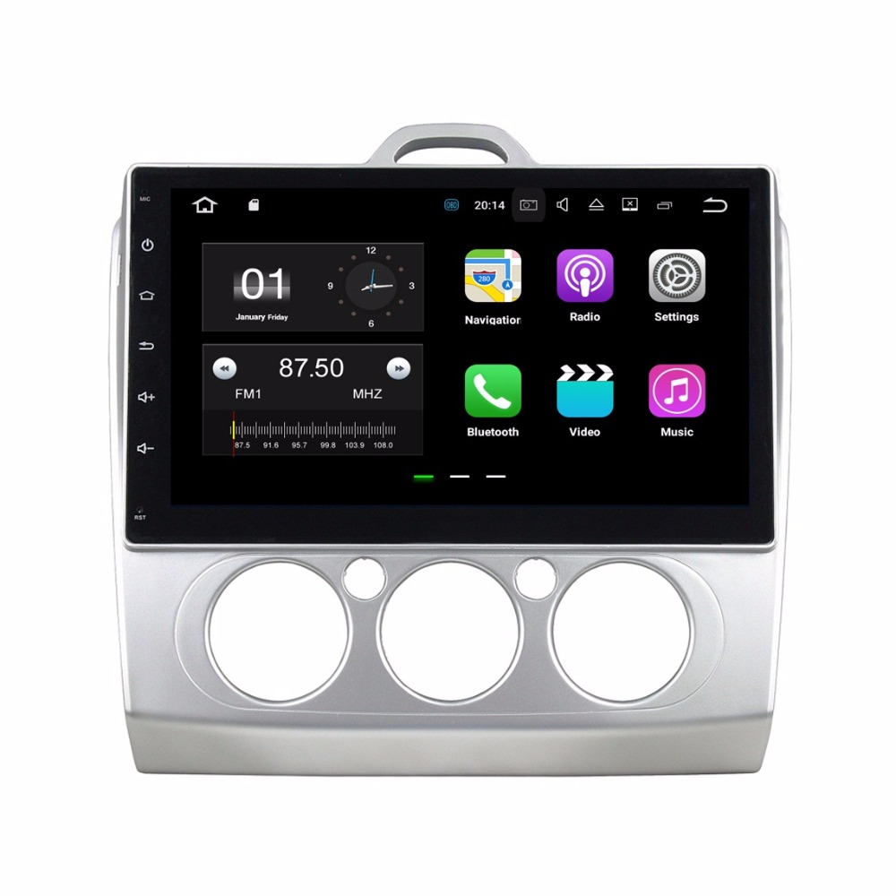 Quad Core 2 din 10.1″ Android 6.0 Car Radio DVD GPS for Ford Focus 2007 2008 2009 2010 2011 With 2GB RAM Bluetooth WIFI 16GB ROM