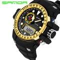 Reloj Digital de La Manera LED Relojes Deportivos Militar 2016 SANDA G Estilo Impermeable S-shock Hombres Reloj Electrónico relogio masculino