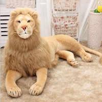 Nowy duży rozmiar 70 cm/110 cm/120 cm prawdziwe życie lew wypchane pluszowe zabawki sztuczne zwierzę zabawki lalki akcesoria domowe zabawki prezentowe Juguetes