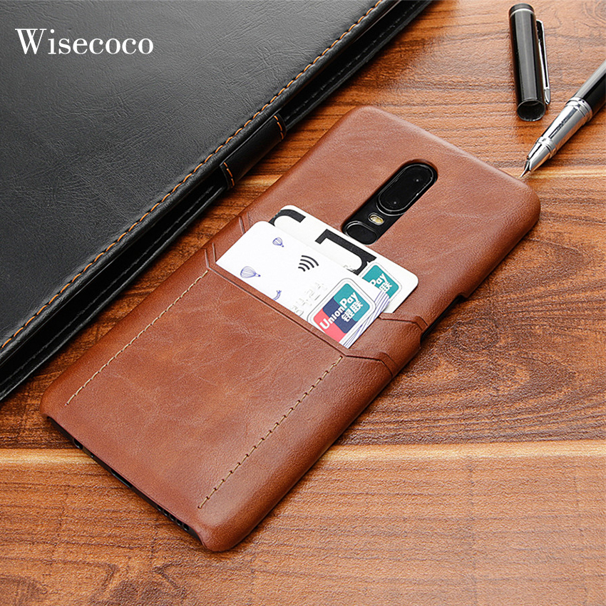 online store a07a3 eeba0 US $4.99  Card Holder Case for Oneplus 6 6t Luxury Leather Wallet  Protection Slim Hard Back Cover for One Plus 6 6t t Oneplus6 128 coque-in  Fitted ...