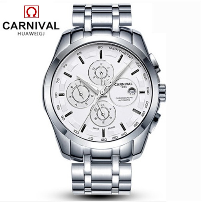 Image 2 - relogio masculino New Carnival Automatic Watches Men Mechanical 