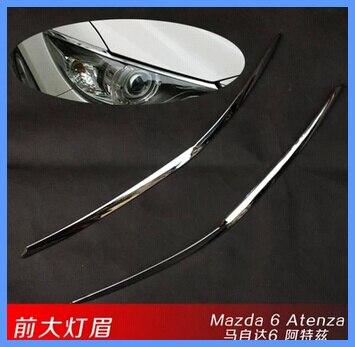 Более высокая звезда ABS с хромом 2 шт Передняя полоса света/Декоративная полоса для Mazda 6 Atenza