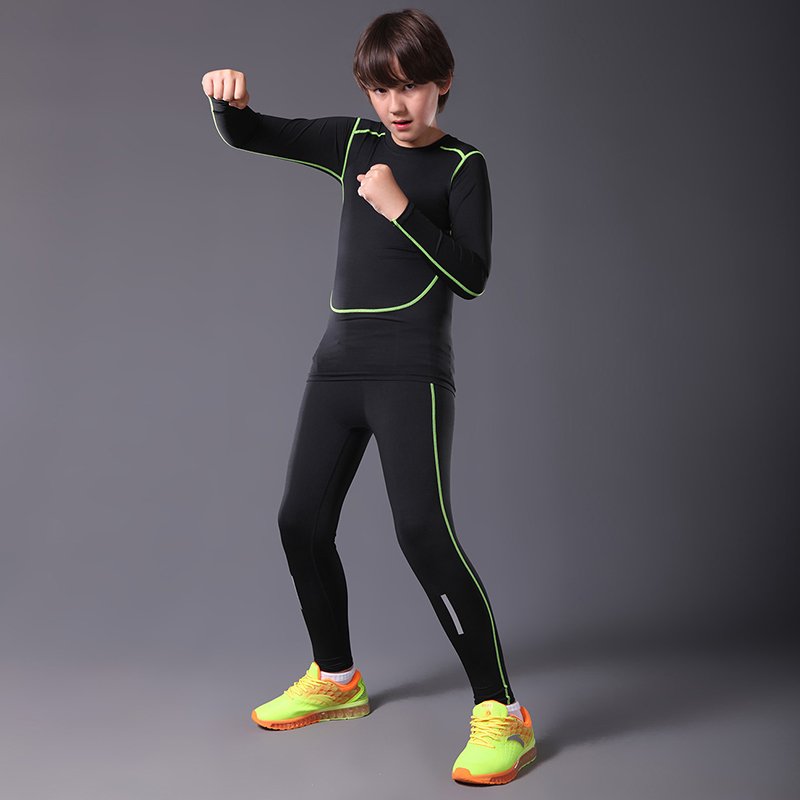0ef1961fc2145 Compression running tights shirts sets kids basketball jersey pants running  training suit gym sport fitness yoga leggings tights-in Running Tights from  ...