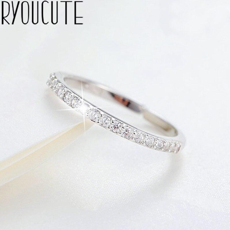 Блестящие женские кольца с настоящими Австрийскими кристаллами серебряные Цвет ювелирные изделия для девочек Регулируемый Размеры открыт...