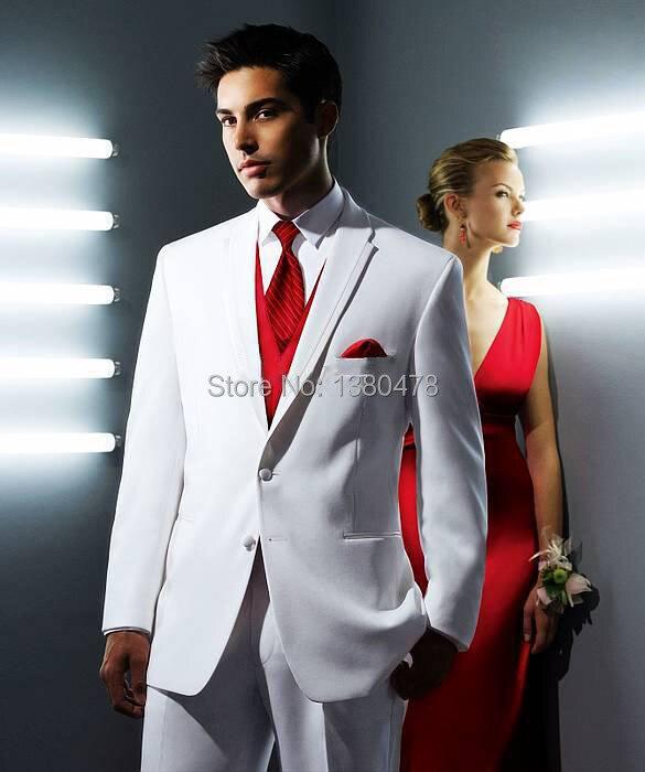 Blancs Hommes Costumes Prom De Smokings Homme Cravate Mariage Groom Gilet Garçons Pantalon Vêtements D'honneur Meilleur 2016 Veste ABUqwCA
