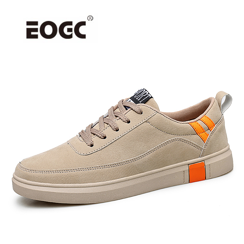 Breathable Outdoor Men Shoes Comfortable Leather Sneakers Lac-up Casual Shoes Zapatillas Hombre Dropshipping