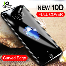 Ionct Curved Edge 10D Tempered Glass for Iphone 6 Glass 7 6s 8 plus Protective Glass For iphone X Glass Screen Protector