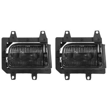 ALLOYSEED V1 Pair Car Light Accessories Front Bumper Grille Fog Lights Fog Lamps with Bulbs for E30 318i 1985-1993 Car Styling image