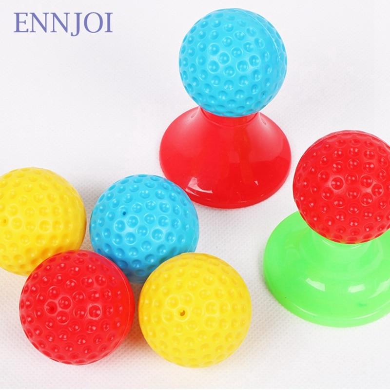 Новый Пластик мини Гольф клуб набор Гольф мяч игрушка Детские спортивные Гольф клуб 3 Клюшки для гольфа и 6 Мячи для гольфа для Для детей спор...
