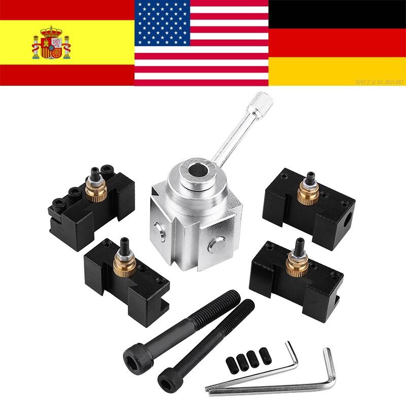 Mini CNC Lathe Tool Holder Quick Change Tool Post Cutter Holder Screw Kit Set Boring Bar Turning Facing Holder Wrench Rach Hot