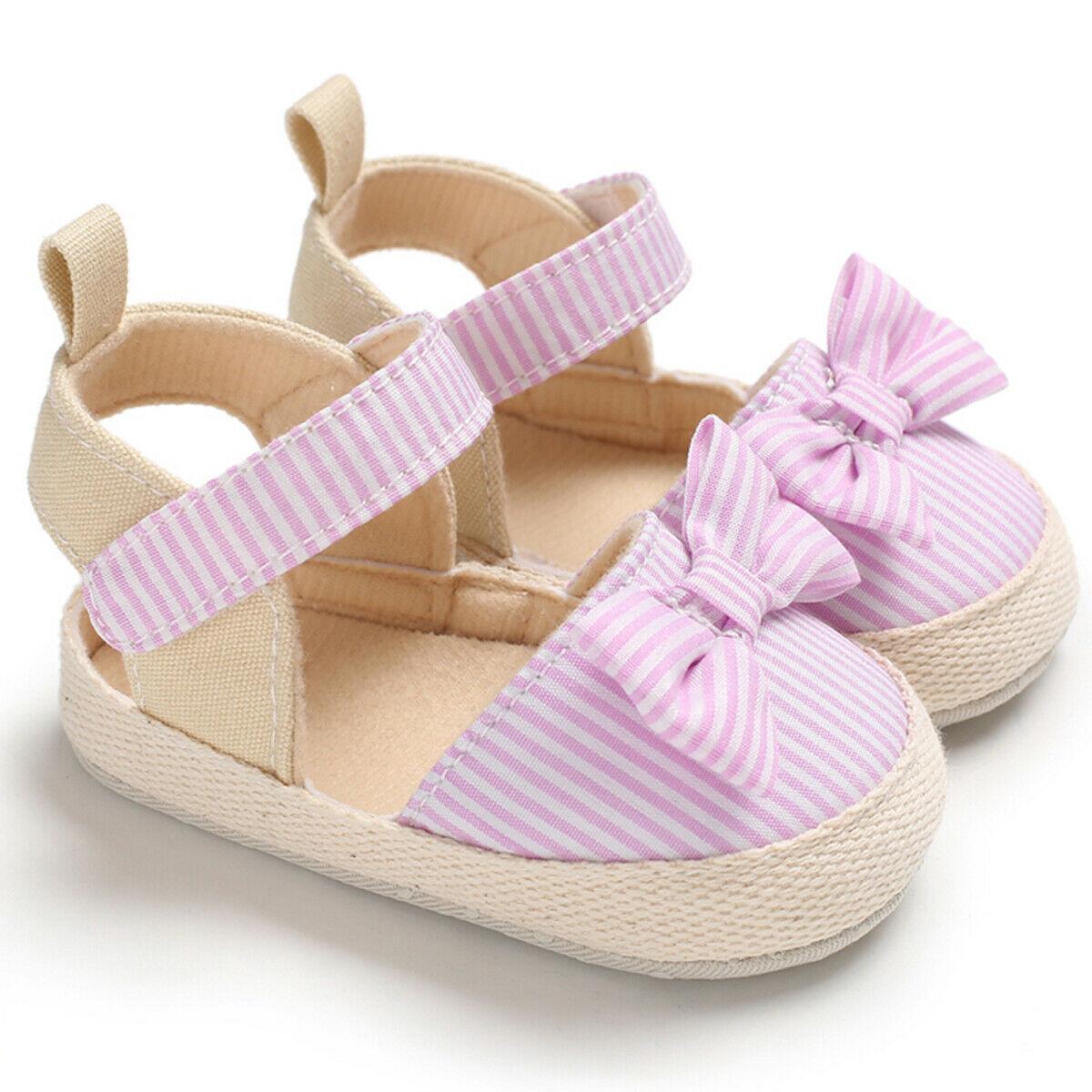 2019 Newborn Baby Girl Soft Crib Shoes Infants Anti-slip Sneaker Prewalker 0-18M