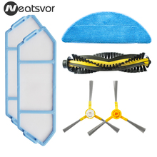 Yedek kitleri NEATSVOR X500/X600 robotlu süpürge aksesuarı filtre paspas bezi slayt fırça