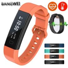 BANGWEI Mens Smart Wristband Bracelet Waterproof Sports Fitness Pedometer Sleep Heart Rate Monitor Digital Smart Watch Men+box