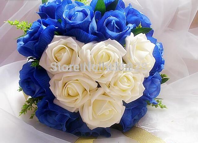 Cheap Wedding Bride Bouquet Artifical Silk Flowers