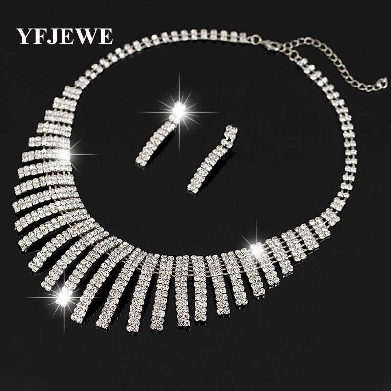 YFJEWE Women's Jewelry mystic Simulated Silver plated Pendant Angel Jewelry Sets Womens Artificial Necklace earring Set N159