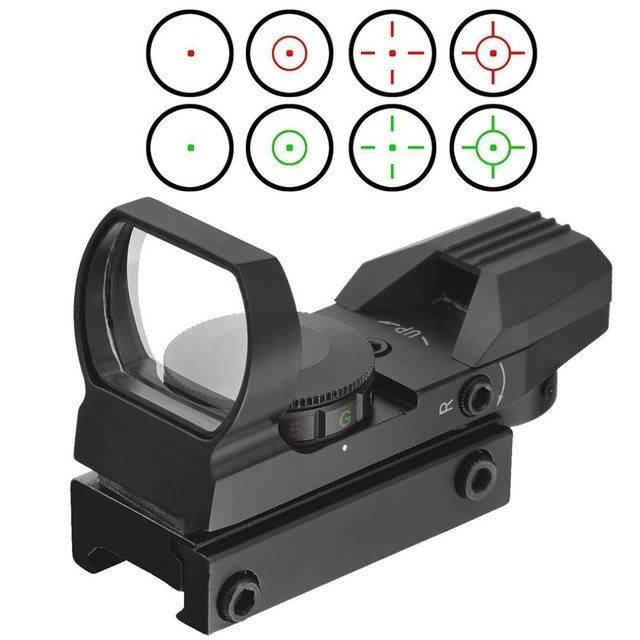 Hunting Scopes Optics Red Green Dot Sight Scope Sniper Pistol Airsoft Air Guns Reflex 4 Reticle RifleScopes Holographic 3
