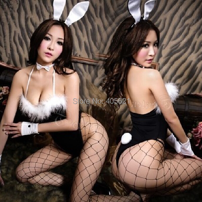 5set/lot Cosplay Rabbits Uniforms Temptation Cat Girl Bunny Suits Babydolls Sexy Lingerie Set Women Underwear DS Costumes