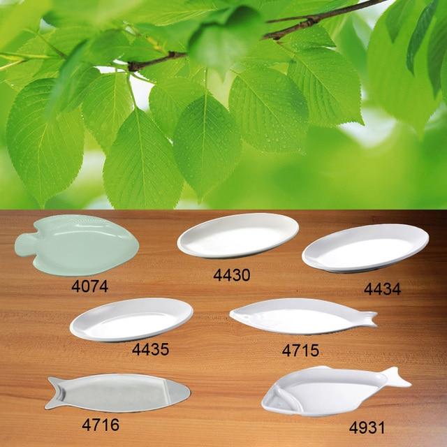 Imitation Porcelain Melamine Dinnerware Dinner Plate Fish Dish Chinese Restaurant Melamine Plate A5 Melamine Tableware & Imitation Porcelain Melamine Dinnerware Dinner Plate Fish Dish ...