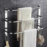 Three Layer Towel Hanger Brief Space Stainless Steel Bathroom Towel Rack Wall Mounted Towel Bar Holder For Bathroom Accessories