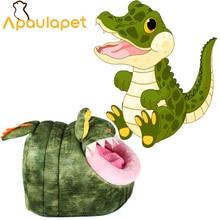 APAULAPET Забавный мягкий флисовый крокодил, динозавр собака кошка кроватка для собачки питомник в форме животных щенячье Гнездо Спальный мешок для животных кровать