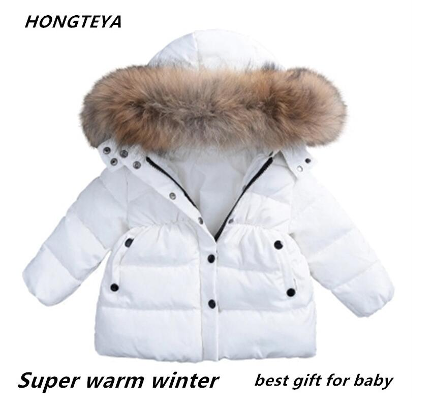 Hot sale winter baby kids Thickening cotton padded clothes children boys and girls Coat with big hair collar keep warm Jacket