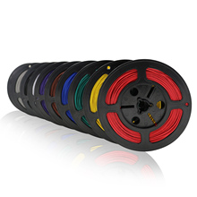 Fil et câble en cuivre bidon, 10 mètres, fil électronique, à travers bricolage, UL 1007 20 AWG, 10 couleurs en option