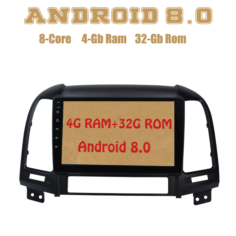 Octa core PX5 Android 8.0 car radio gps for Hyundai Santa fe 2006-2012 with 4G RAM 32G ROM wifi 4g usb Auto Stereo octa core px5 android 8 0 car dvd gps for hyundai ix45 santa fe 2013 2015 with 4g ram 32g rom radio wifi 4g usb auto multimedia