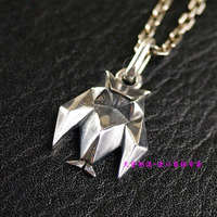 Cute girl style 925 silver origami style Owl Pendant