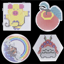 DOLLRYGA 5mm Hama Beads Perler Tools Pegboard Template Board Circular Square Hot Paper Educational DIY Figure Material Girl Gift