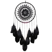 1 pc Fashion India Feather Dream catcher handmade Wind Chimes Indian Style Pendant hanging ROOM decoration dropshipping